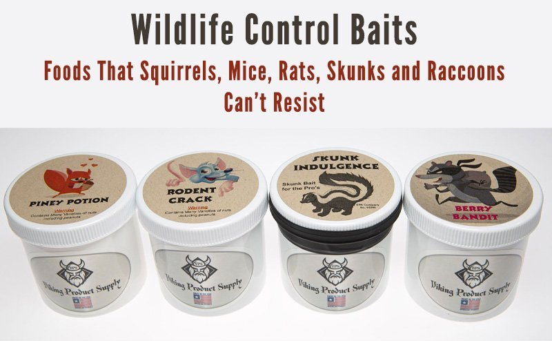 Wildlife Control Baits Photo on Home Page Of Viking Product Supply